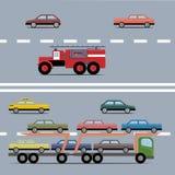 Transporte colorido determinado Fotografía de archivo libre de regalías