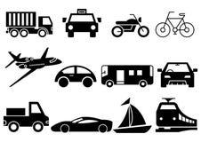 Transporte contínuo dos ícones ilustração royalty free