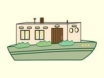 Transporte da água da cor da casa do rio Foto de Stock Royalty Free