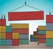 Transporte da carga da carga do transporte do embarque do recipiente do mar ilustração do vetor