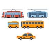 Transporte da cidade Grupo do vetor ilustração royalty free