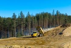 Transporte da construção no trabalho Imagem de Stock Royalty Free
