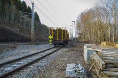 Transporte da madeira Fotografia de Stock