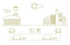 Transporte de alta velocidade dos passageiros da cidade ao aeroporto Progresso cient?fico e t?cnico Tecnologia nova ilustração stock
