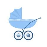 Transporte de bebê azul para o bebê recém-nascido ilustração royalty free