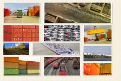 Transporte de contenedores Imagen de archivo libre de regalías