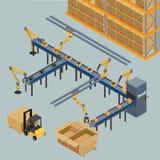 Transporte de correia automático, ilustração royalty free