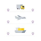 Transporte de envío Imagen de archivo libre de regalías