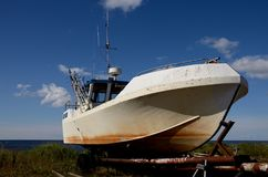 Transporte de espera do barco Fotos de Stock