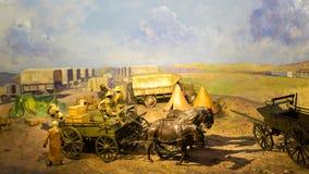 Transporte de fuentes de los militares Imagen de archivo libre de regalías