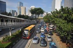Transporte de Jakarta Imagens de Stock Royalty Free