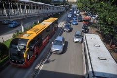 Transporte de Jakarta Fotografia de Stock Royalty Free