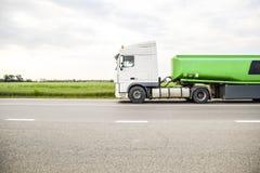 Transporte de líquidos inflamables Foto de archivo libre de regalías