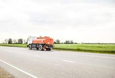 Transporte de líquidos inflamables Camión Fotos de archivo