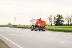 Transporte de líquidos inflamables Camión Foto de archivo libre de regalías