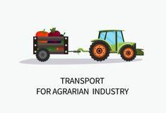 Transporte de la bandera para la historieta agraria de la industria ilustración del vector