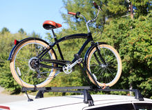 Transporte de la bici Foto de archivo