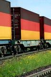 Transporte de la carga del tren fotografía de archivo libre de regalías