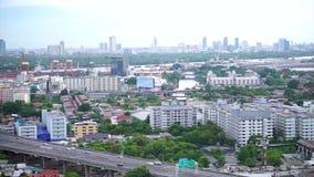 Transporte de la carretera de Bangkok almacen de video
