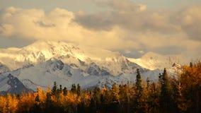 Transporte de la carretera de la montaña de Autumn Drive Fall Colors Alaska almacen de video