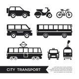 Transporte de la ciudad del negro del vector de Digitaces libre illustration