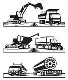 Transporte de la construcción Imágenes de archivo libres de regalías