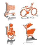 Transporte de la rueda Imagenes de archivo