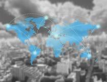 Transporte de la tecnología del mapa de red Imágenes de archivo libres de regalías