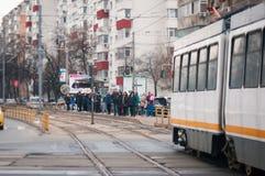Transporte de la tranvía fotografía de archivo