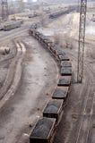 Transporte de las materias primas para la producción de hierro caliente Fotos de archivo libres de regalías