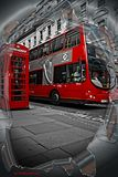 Transporte de Londres Fotografia de Stock Royalty Free