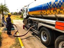 Transporte de los productos petrolíferos Fotos de archivo