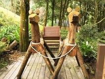 Transporte de madeira do asno de Cinderella, casa de campo da alfazema, Taichung, Taiwan Foto de Stock Royalty Free