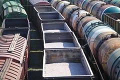 Transporte de mercancías por el carril Imágenes de archivo libres de regalías