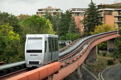 Transporte de Minimetro em Perugia, Itália imagens de stock