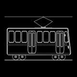 Transporte de passageiro municipal público da cidade do bonde Foto de Stock