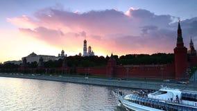 Transporte de río de Moscú almacen de video