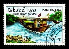 Transporte de río, 9no aniversario del serie de la república, circa 19 Fotografía de archivo