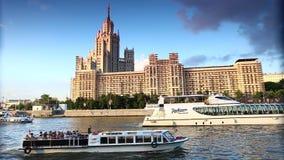 Transporte de rio de Moscou video estoque