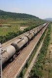 Transporte de trilho do petróleo Imagem de Stock