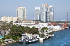 Transporte del agua de Miami imagen de archivo