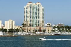 Transporte del agua de Miami Beach Fotografía de archivo libre de regalías