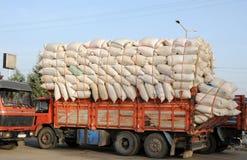 Transporte del algodón Imagen de archivo libre de regalías