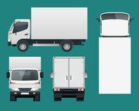 Transporte del camión del cargo Entrega rápida o transporte logístico ilustración del vector