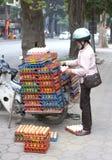 Transporte del huevo en Vietnam Fotografía de archivo