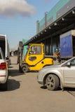 Transporte del terminal del almacenamiento Fotografía de archivo libre de regalías