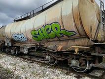 Transporte del tren de carromatos imágenes de archivo libres de regalías