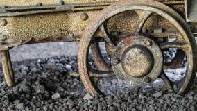 Transporte descarrilhado da mina Imagem de Stock