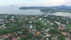 Transporte do canal do Panamá video estoque