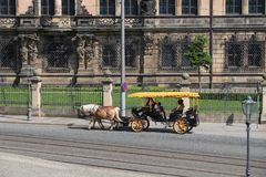 Transporte do cavalo de Dresden Fotografia de Stock